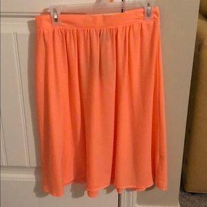 Float knee length skirt